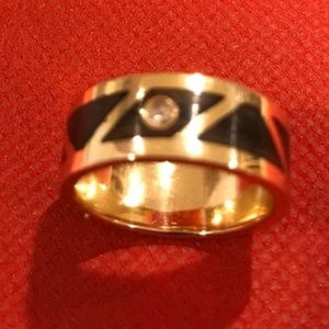 hand made 14k solid gold & diamond Band Ring